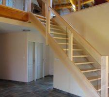 Escalier en frêne blanc