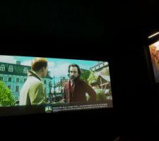 Salle ciné (Toile transonore au format 2:35/1)