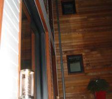 Les luminaires du patio d'entrée