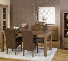 Voici les meubles qu'on aimerait pour notre salon séjour : il s'agit de la gamme MAKASSAR en aulne fumé.