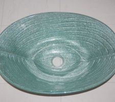 Vasque en verre pailleté