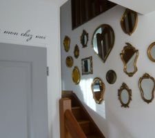 decoration faite de miroirs dores
