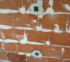 Octobre : pose des cloisons en brique plâtrière / passage des électriciens pour finaliser les prises