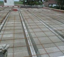 preparation de la dalle de l etage