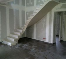 Escalier en voute sarazine