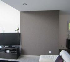 et voici le nouveau mur tapisserie mica