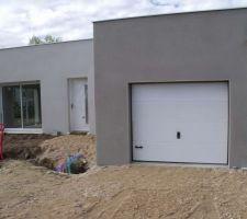 garage parex gris fume g40 maison weber gris perle 091