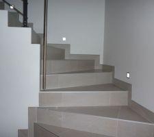 Escalier avec leds