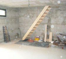 Escalier Garage vers comble.