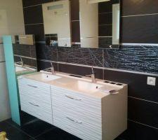 photos et idées salle de bain sol gris foncé (1064 photos) - Idee Salle De Bain Grise