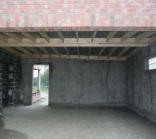 Intérieur du garage avec les différentes inclinaisons