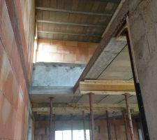 Emplacement futur escalier de la mezzanine