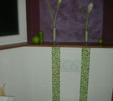 toilettes bas avec peinture decorative