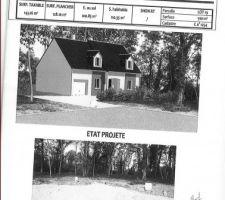 Notre future maison avec bardage (vue de face et de côté)