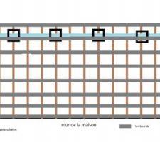 plan du futur projet de terrasse en bois