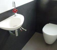 Les WC presque terminés