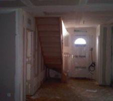 escalier vu de la salle a manger