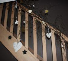 Déco de l'escalier, Noël 2012