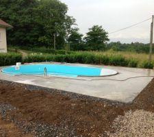 remplissage de la piscine apres pose liner