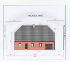 plan facade avant