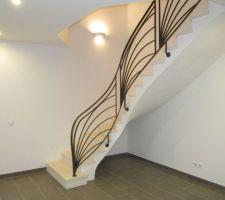 Vue de l'escalier terminé