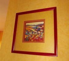petit tableau fabrique et offert par une amie en fonction des couleurs de notre chambre