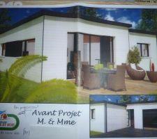 Voilà à quoi ressemblera notre maison d'ici quelques mois.