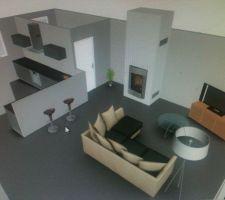 idée d'aménagement salon cuisine