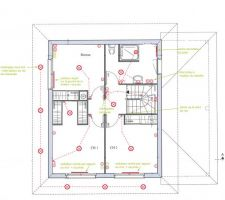 Préparation des plans électrique en vue de la réunion de préparation de chantier - étage