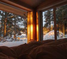 Vue depuis le lit conjugal (dsl hermione), au lever du soleil