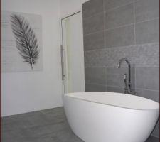 Photos et idées salle de bain sol gris clair (1081 photos)