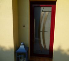 Nouvelle porte d'entrée chez mamy et papy