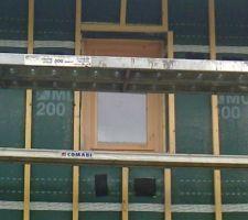 Fenêtre posée en façade nord