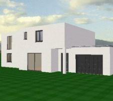 contemporaine cubique toit plat en rt2012