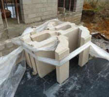 Corniches quart de rond façon pierre reconstituée