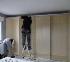 Notre armoire en cours de montage
