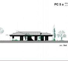 Facade sud de notre projet