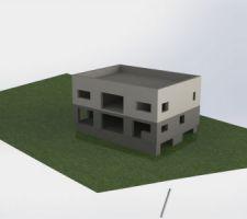 Implantation de la maison sur le terrain, orientation sud-est