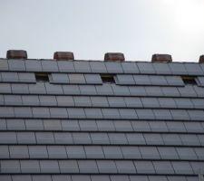 Réserves ventilations toiture nord