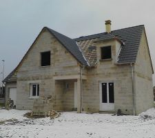 Façade nord - la toiture avance