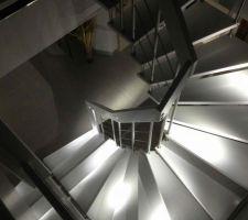 Escalier TREPPEN MEISTER de HIBERT éclairé