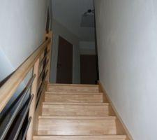 L'escalier en hévéa