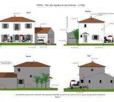 plan des facades et toitures