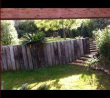 Mur de soutien en bois pour restanque