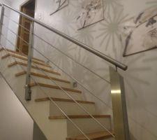 Escalier led éteintes