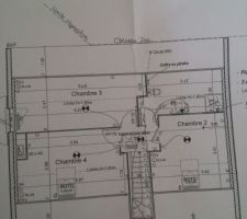 modification chambre 2 a l etage
