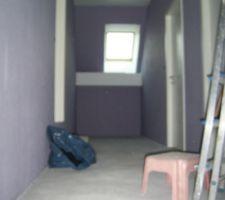 Couloir de l'etage...ambiance milka :)