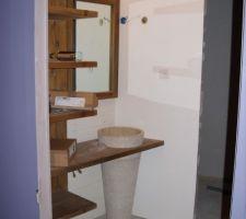 La salle de bain parentale avance