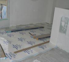 30112009 pose sous-couche pallier étage