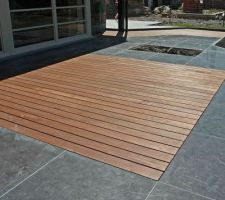 Projet de terrasse nous souhaitons une surface de 50m² où s'alternent dalles et bois